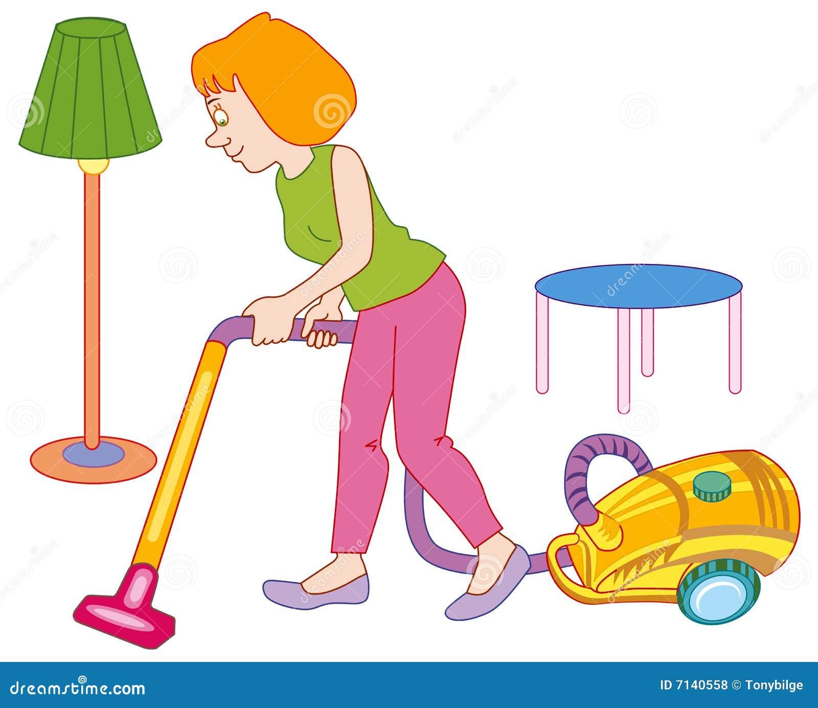 Mujer que hace la limpieza de la casa fotos de archivo - Hacer limpieza en casa ...