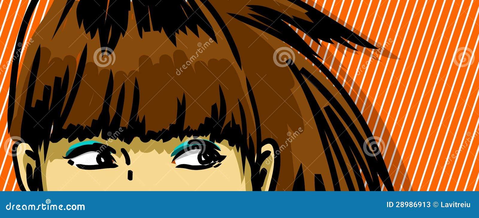 Mujer que mira a escondidas hacia fuera