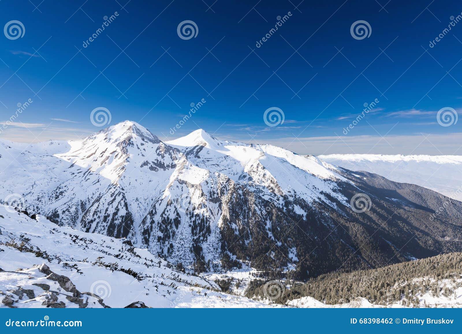 Mujer que mira las montañas nevadas