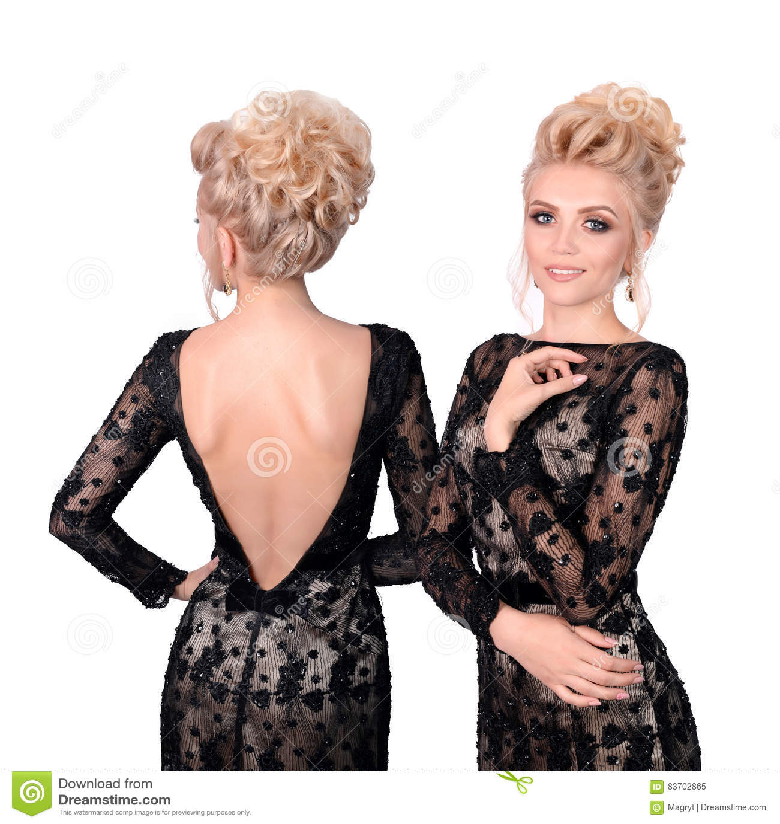 Peinados para vestido negro escotado