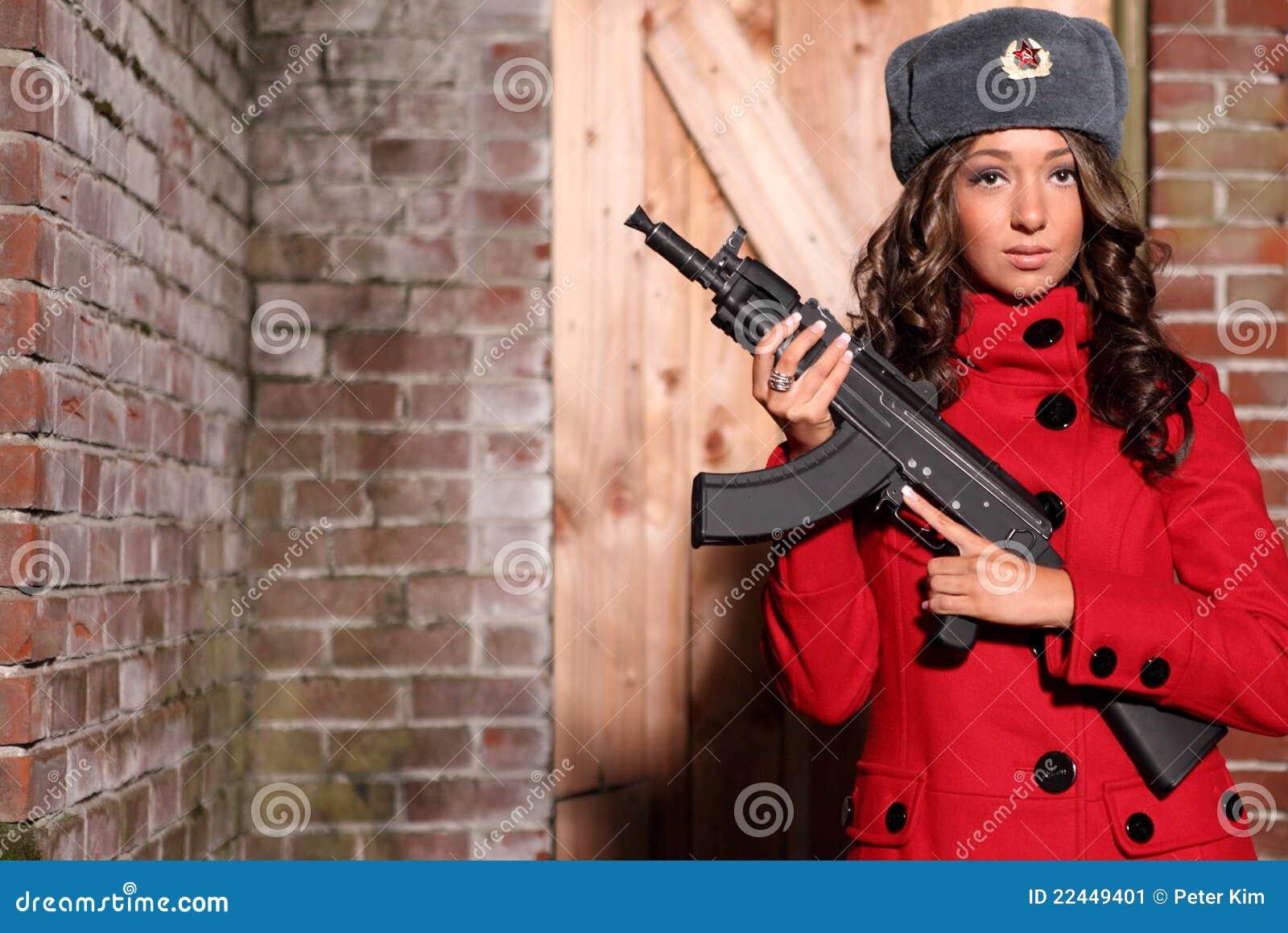 Mujer rusa y crear feliz