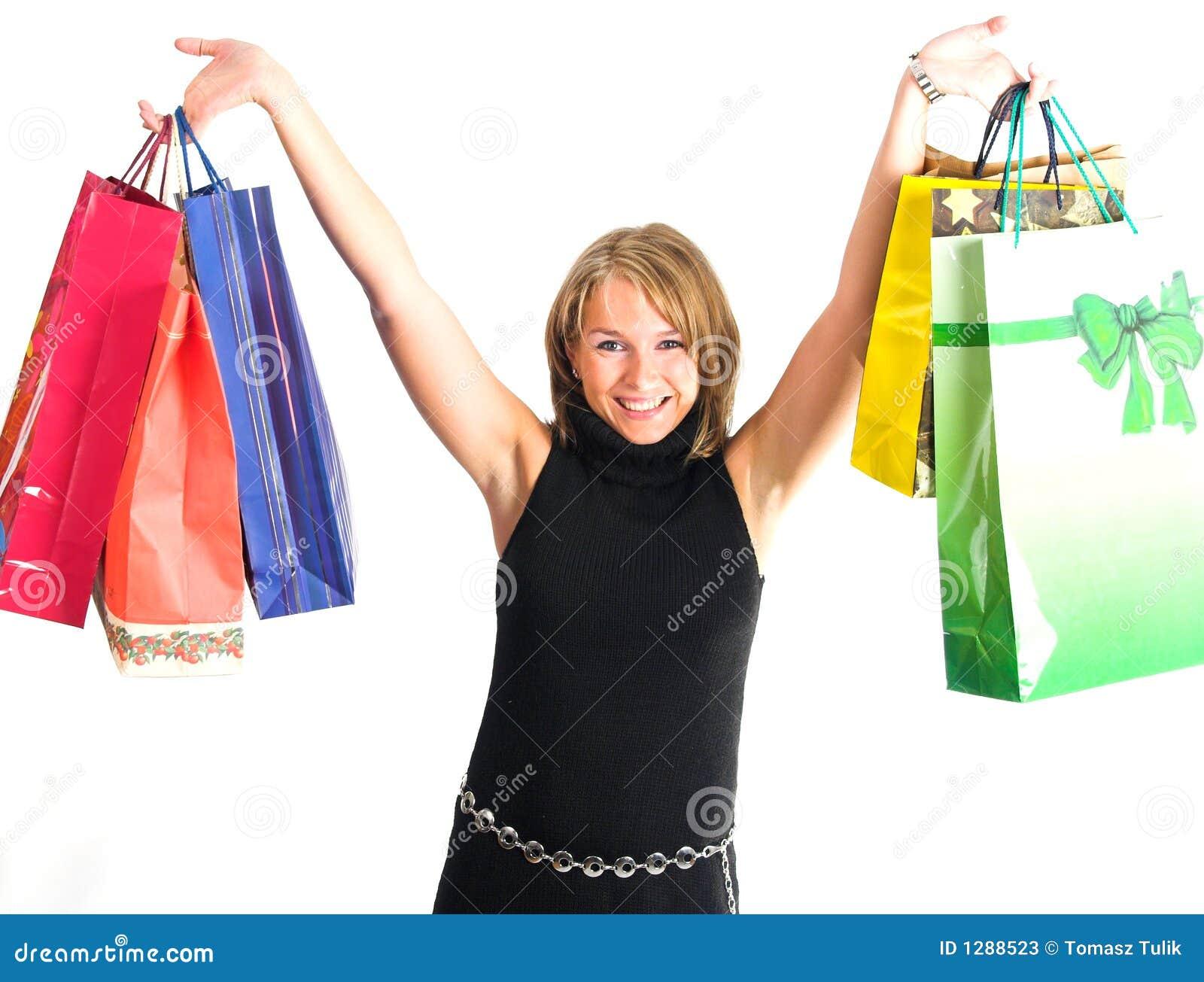 Mujeres bonitas que hacen compras