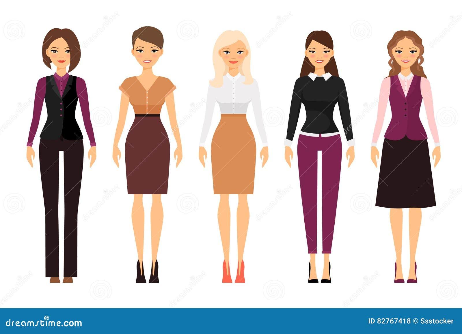 Mujeres en ropa del c digo de vestimenta de la oficina for Codigo de oficina