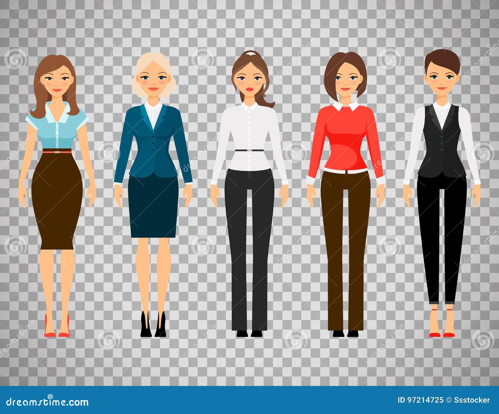 Mujeres en ropa del c digo de vestimenta de la oficina for Ladeblok wit 3 lades