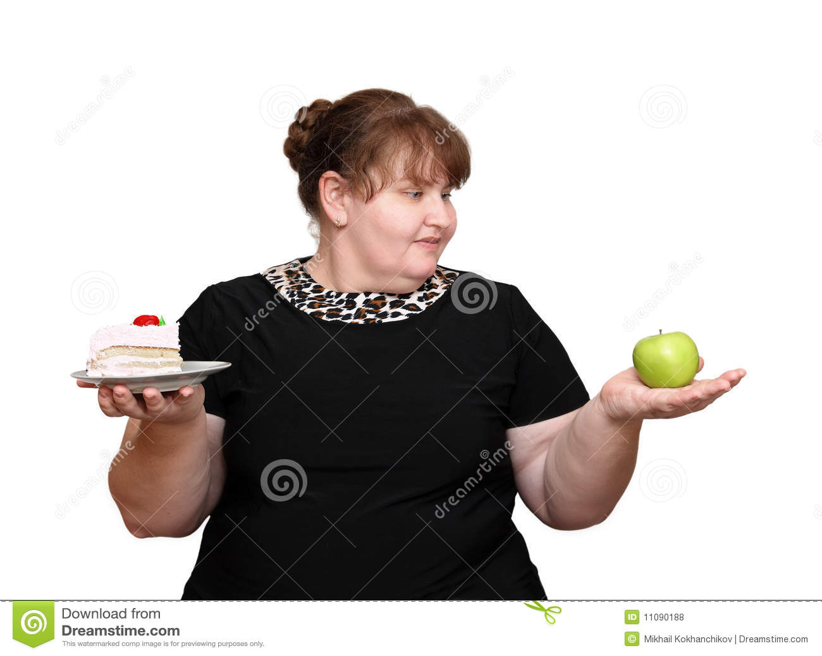 ... de archivo libres de regalías: Mujeres gordas de dieta bien escogidas