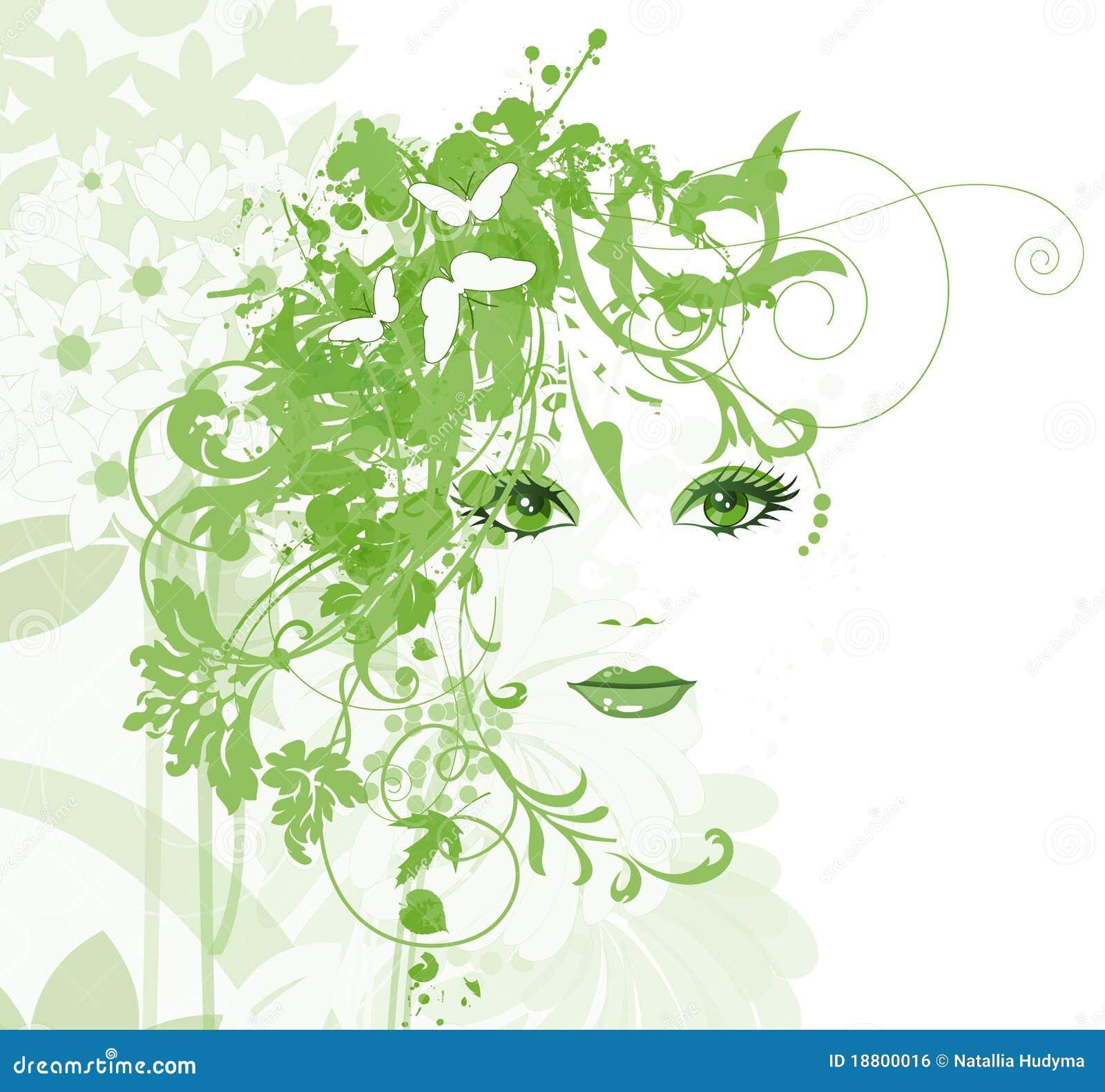 Mujeres Hermosas Con Las Flores Ilustración Del Vector Ilustración