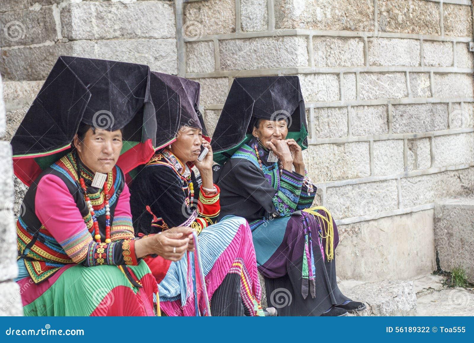 Mujeres tribales de Yi, Lijiang China
