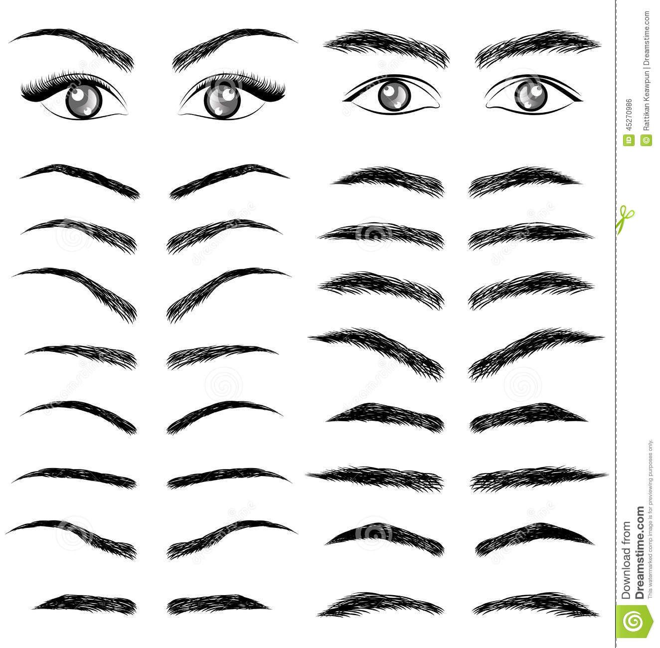 how to draw a nice eyebrow
