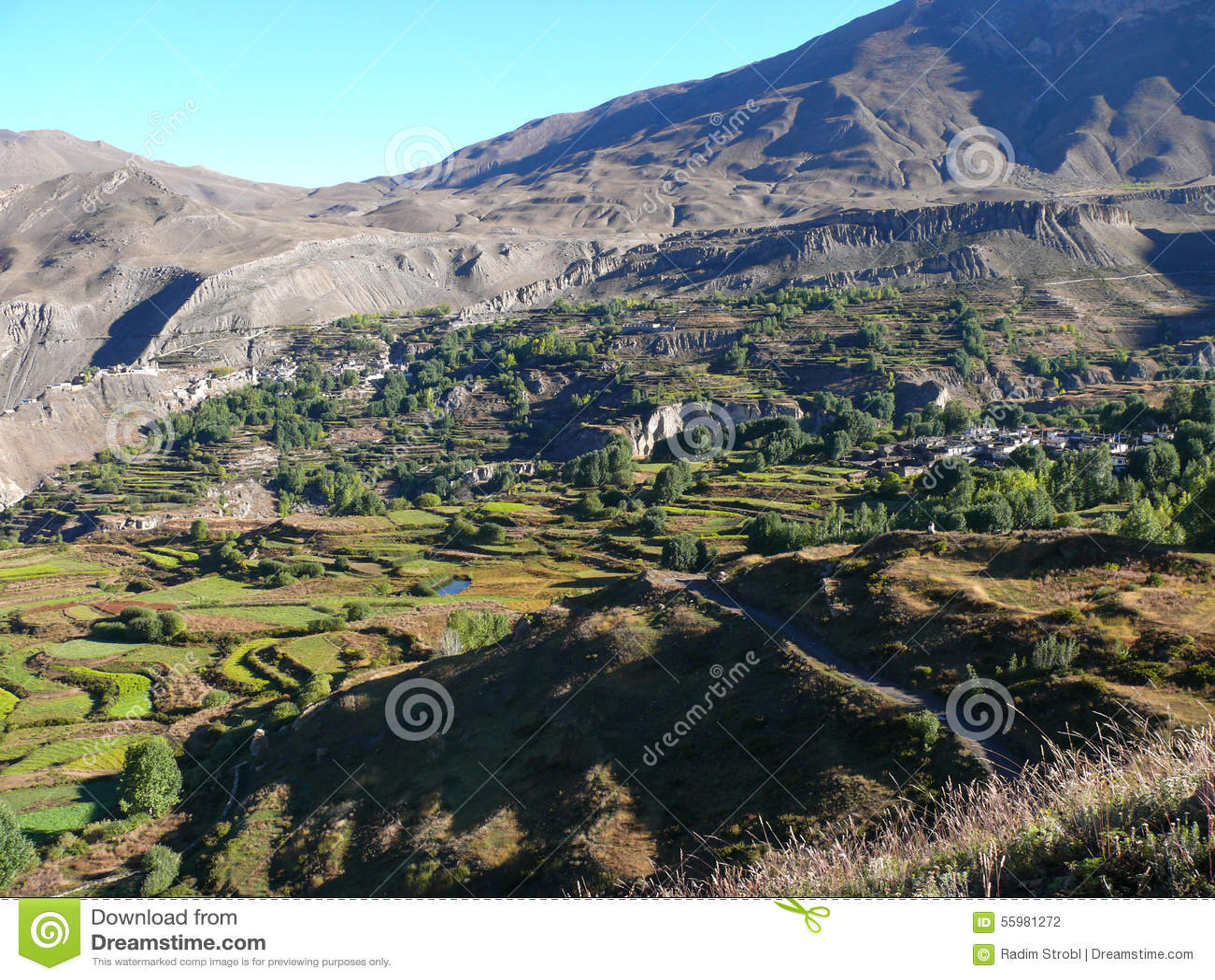 Muktinath landskap, Nepal