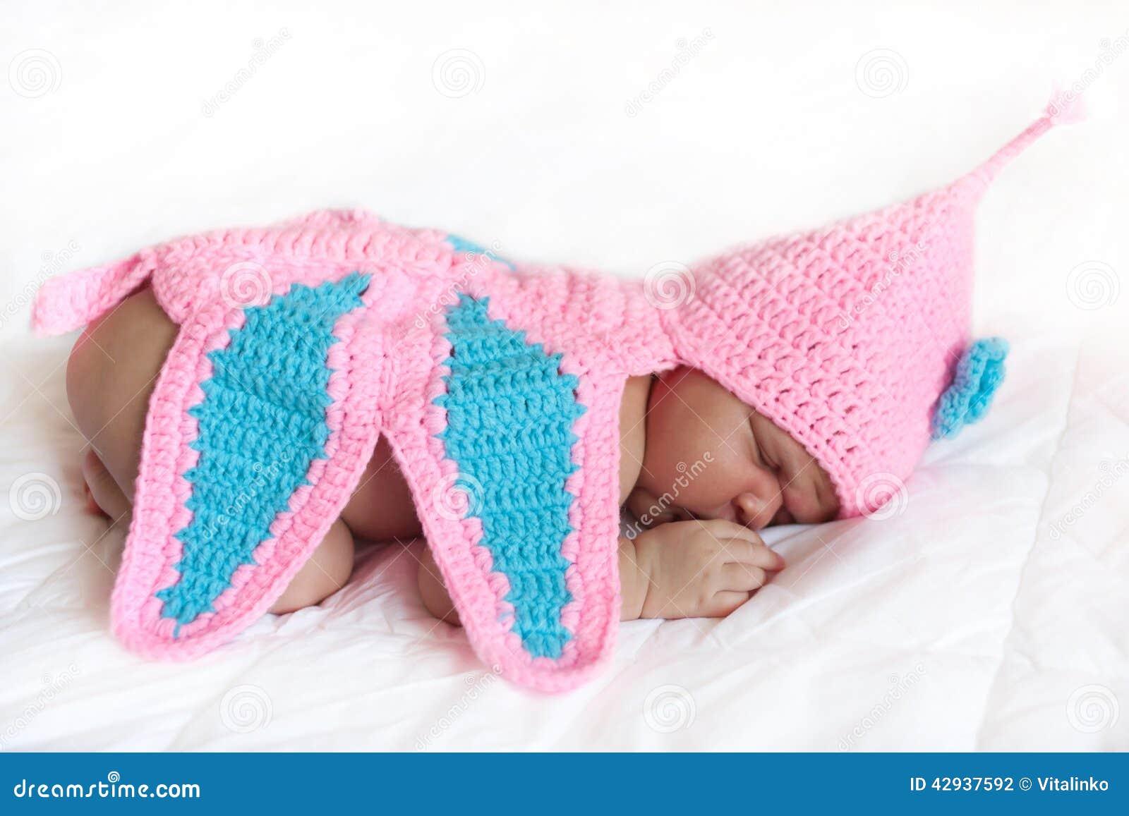 Mulatto Newborn Baby Girl Sleeping Stock Photo Image Of