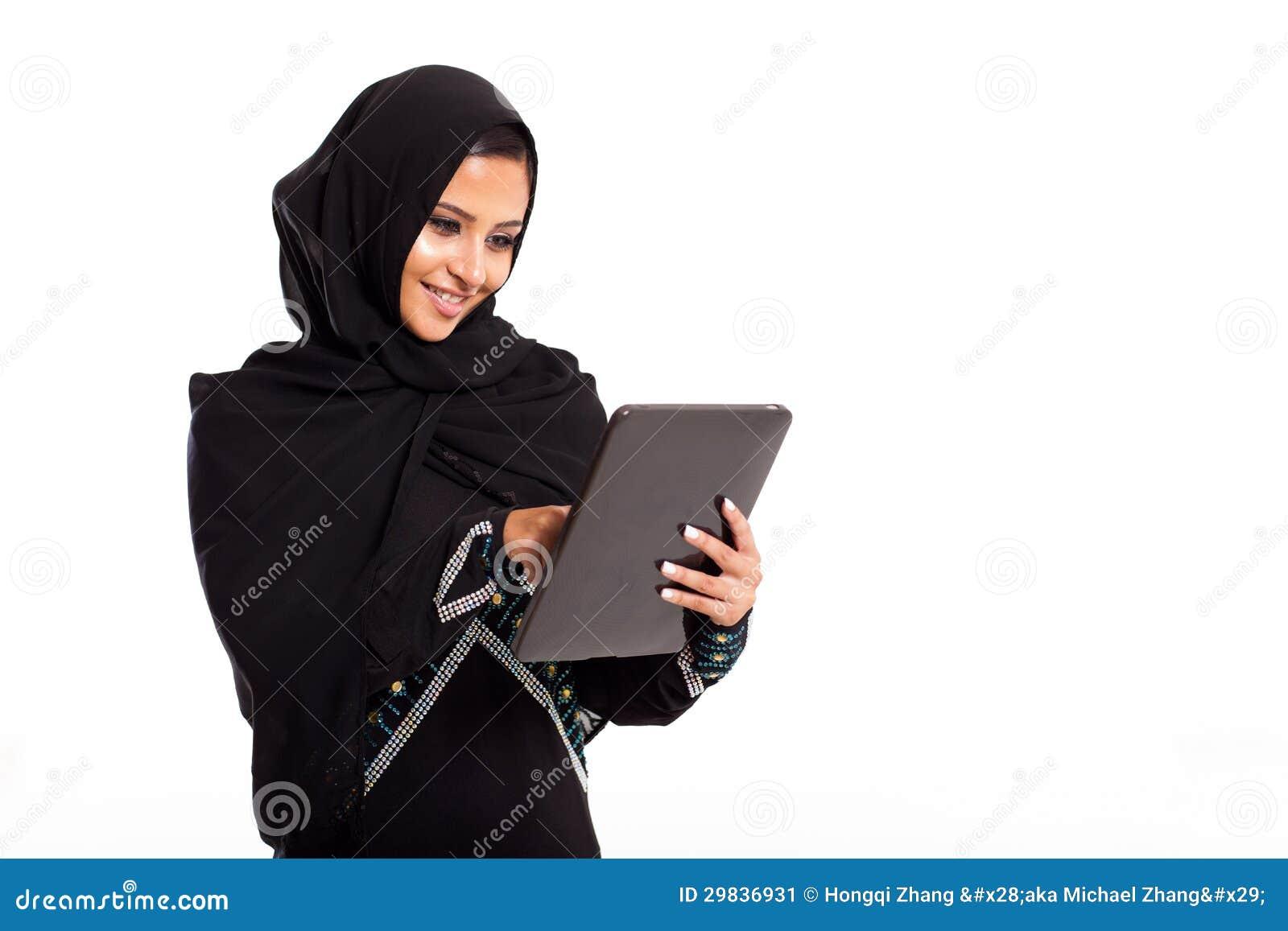 Tabuleta árabe da mulher
