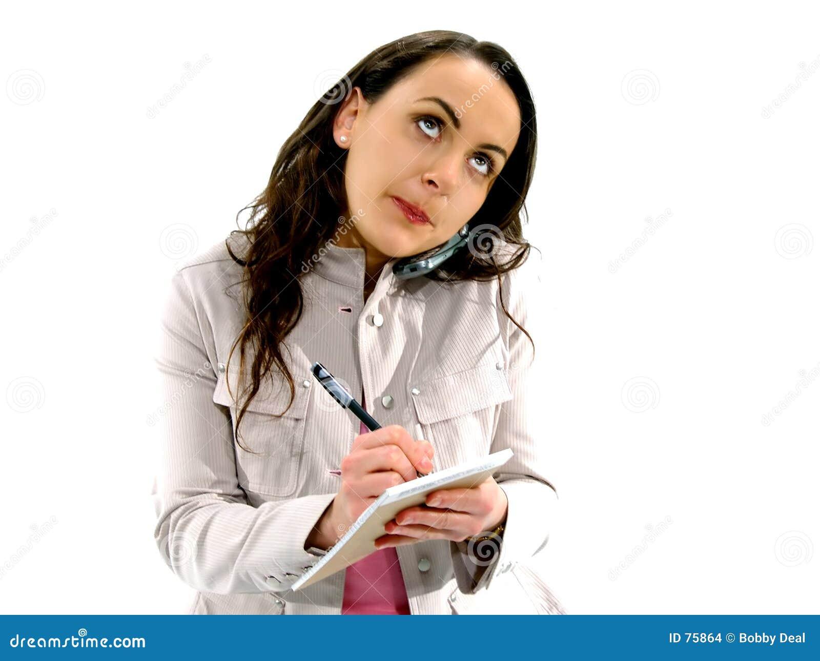 Mulher 3 do telefone de pilha