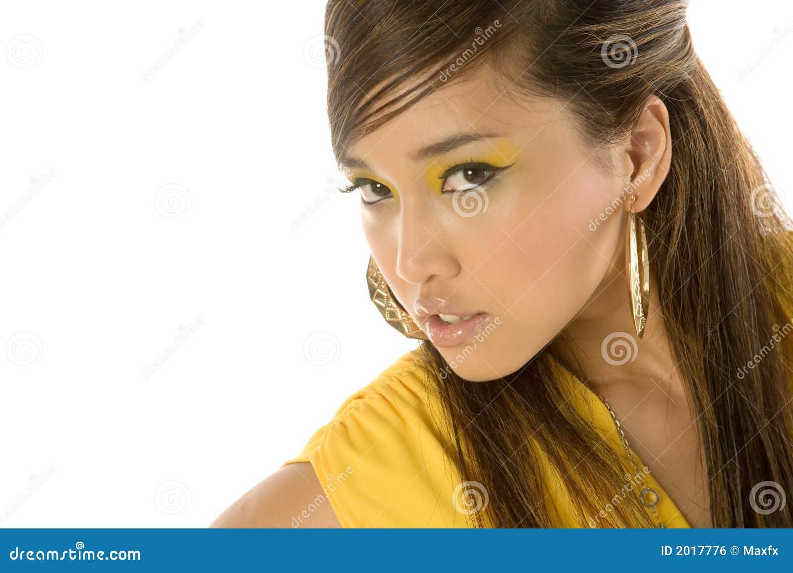 Mulher asiática  sexy  bonita