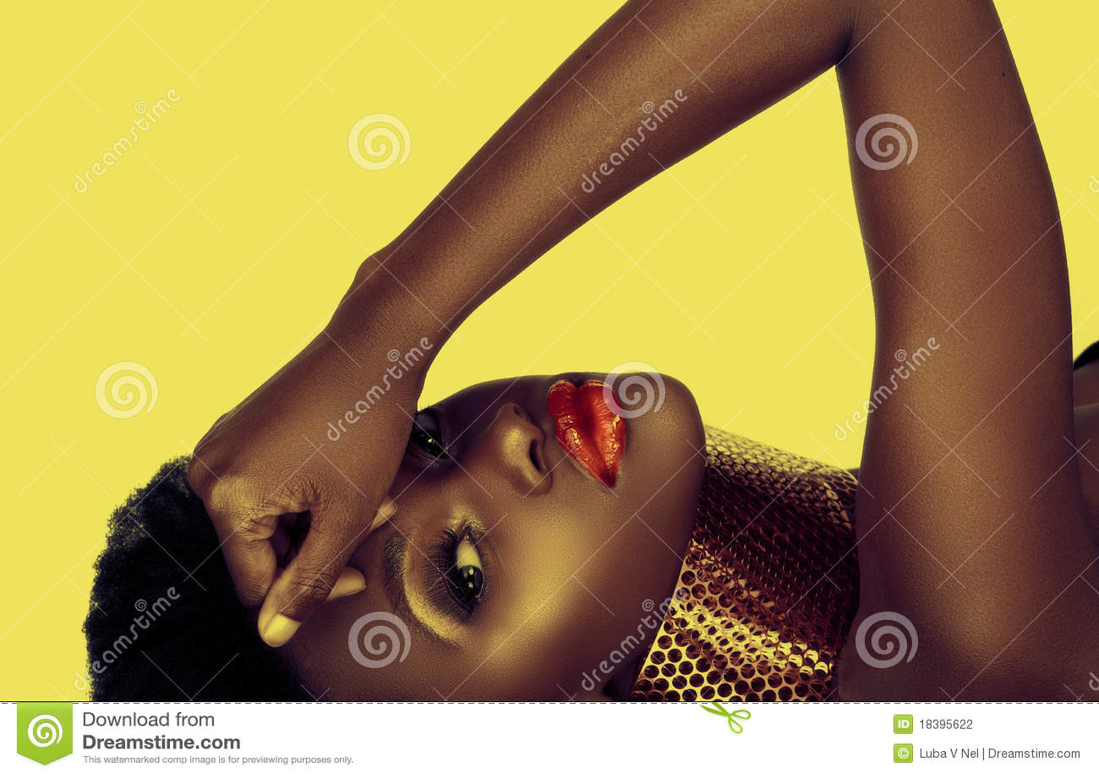 Mulher bonita do americano africano
