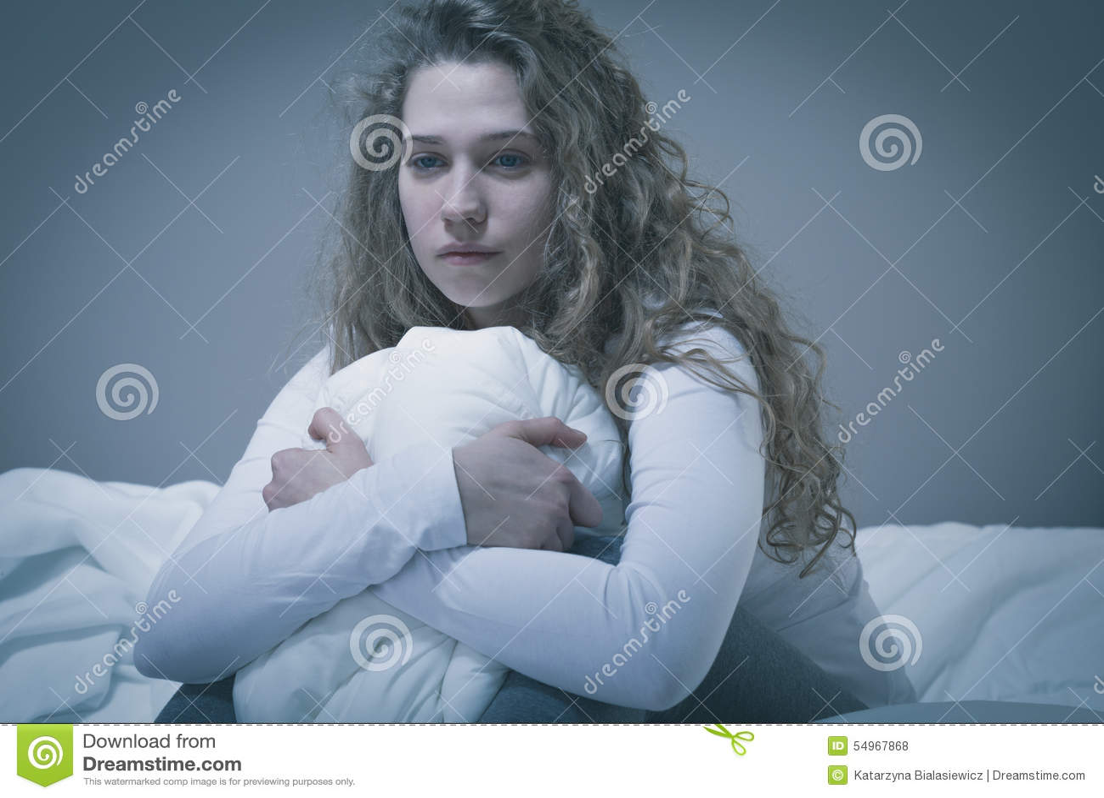 Mulher com depressão profunda