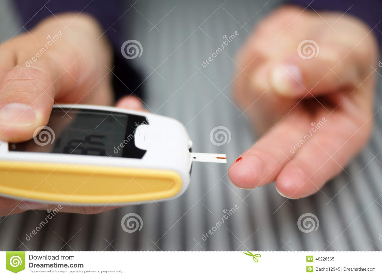 Mulher com diabetes