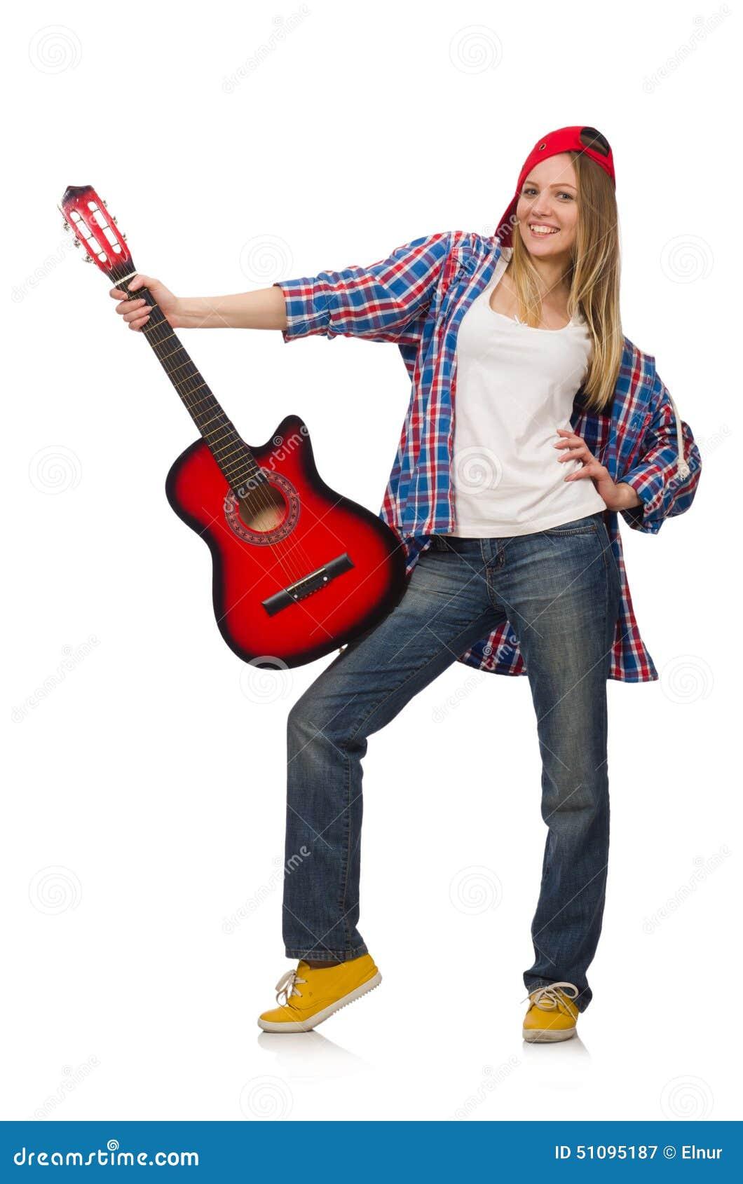 Mulher com guitarra