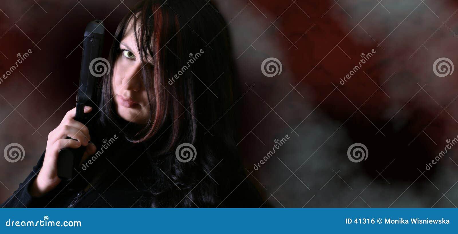 Mulher com injetor