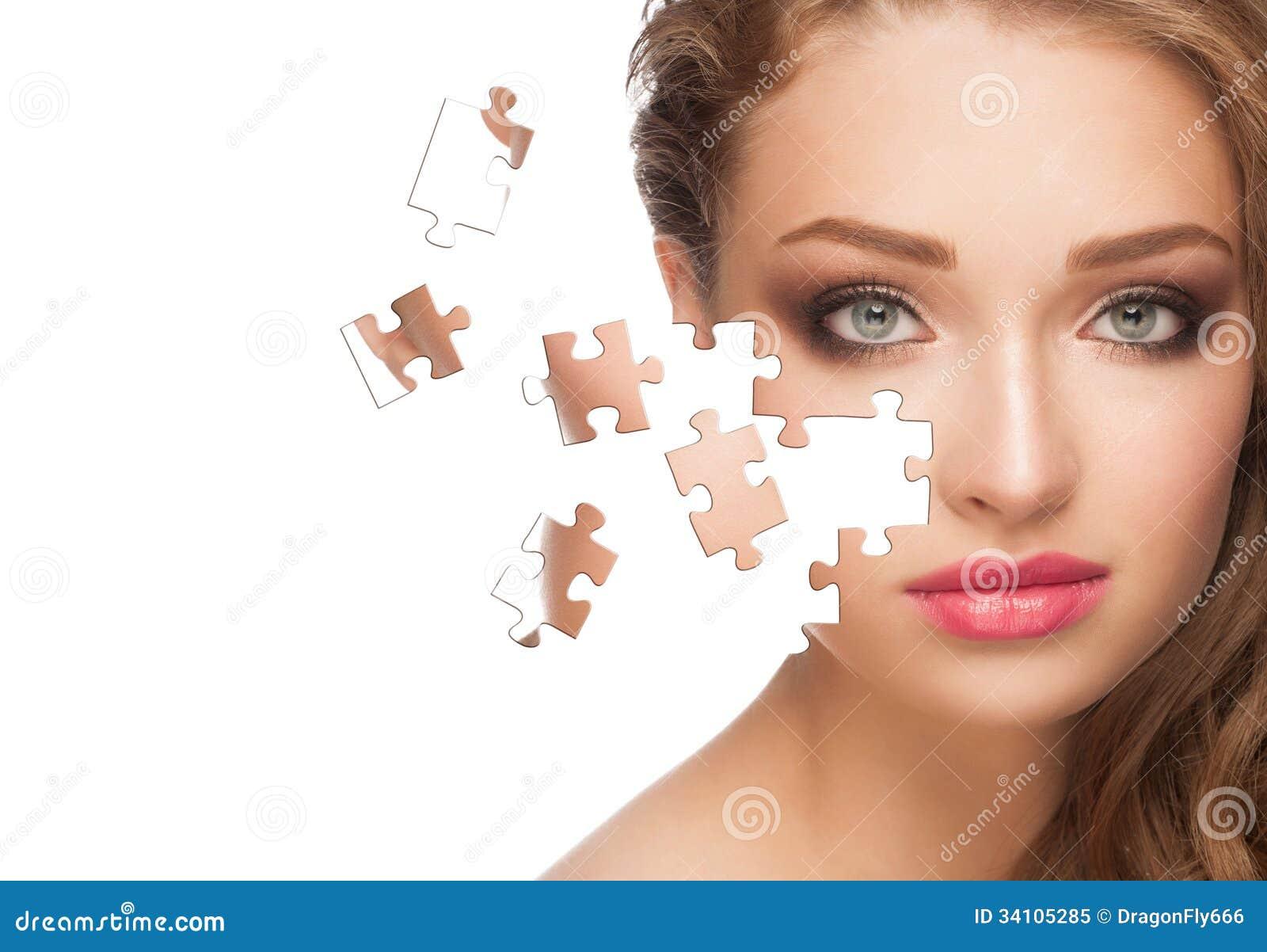 Mulher com pele saudável