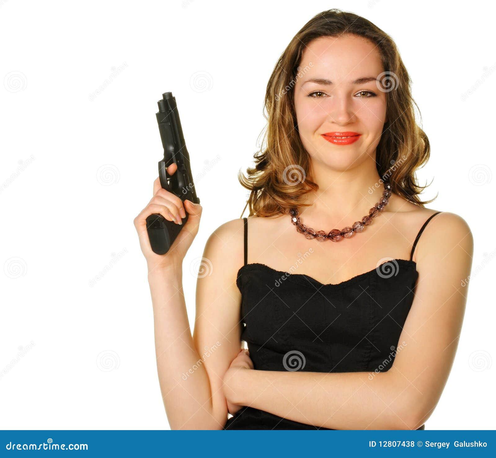 A mulher com uma pistola