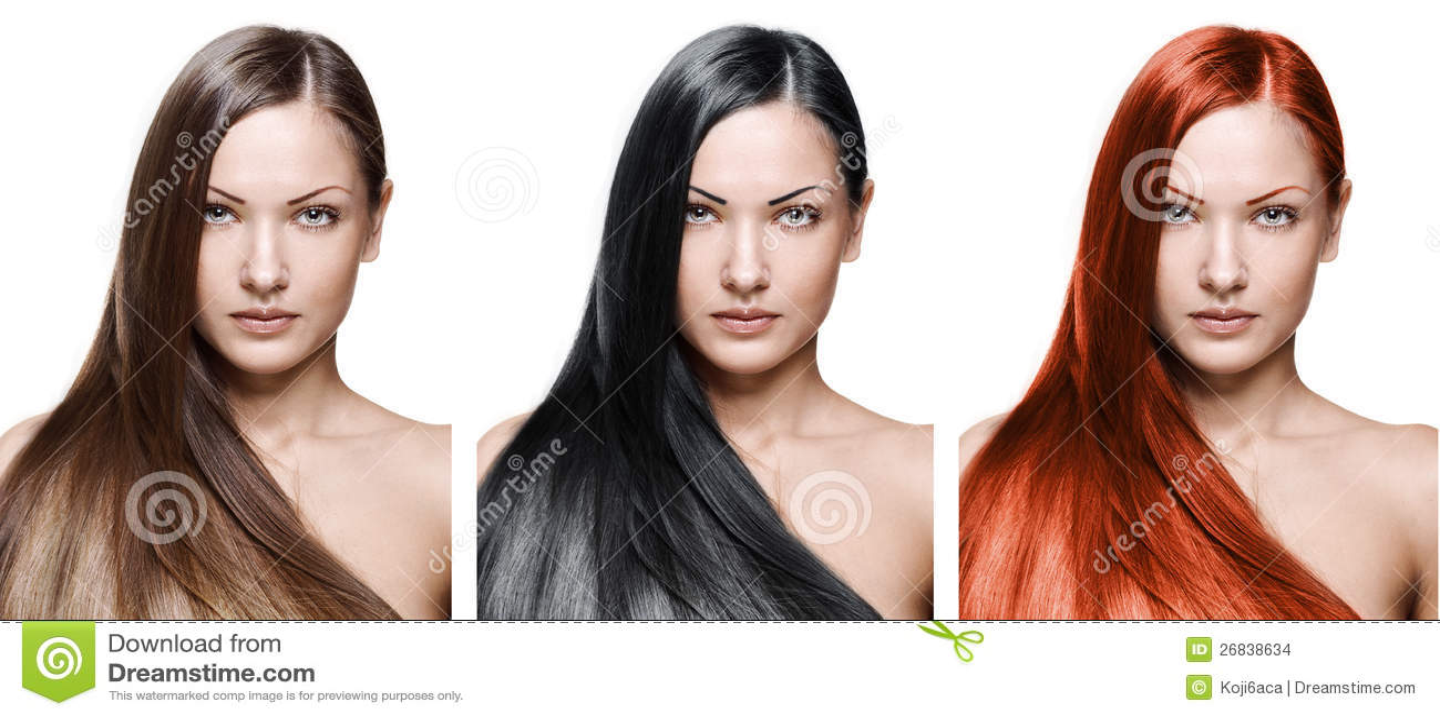Mulher da beleza. cabelo longo