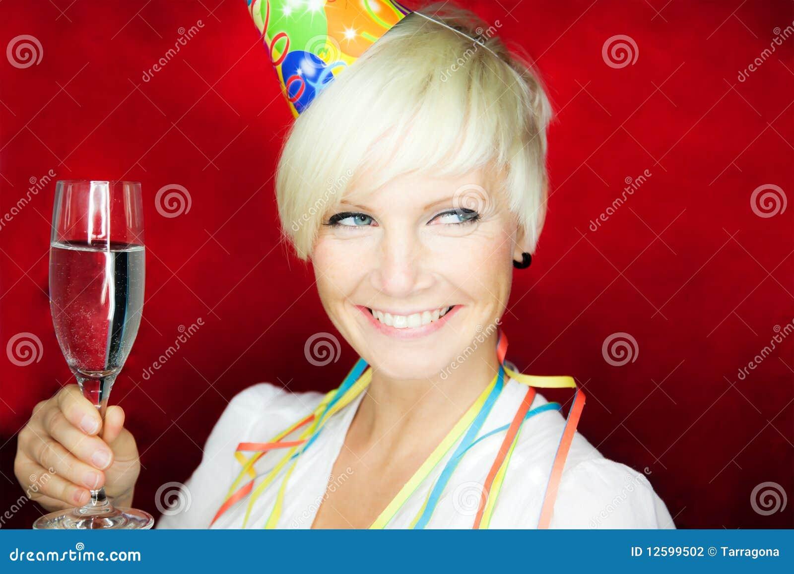 Mulher da celebração do partido