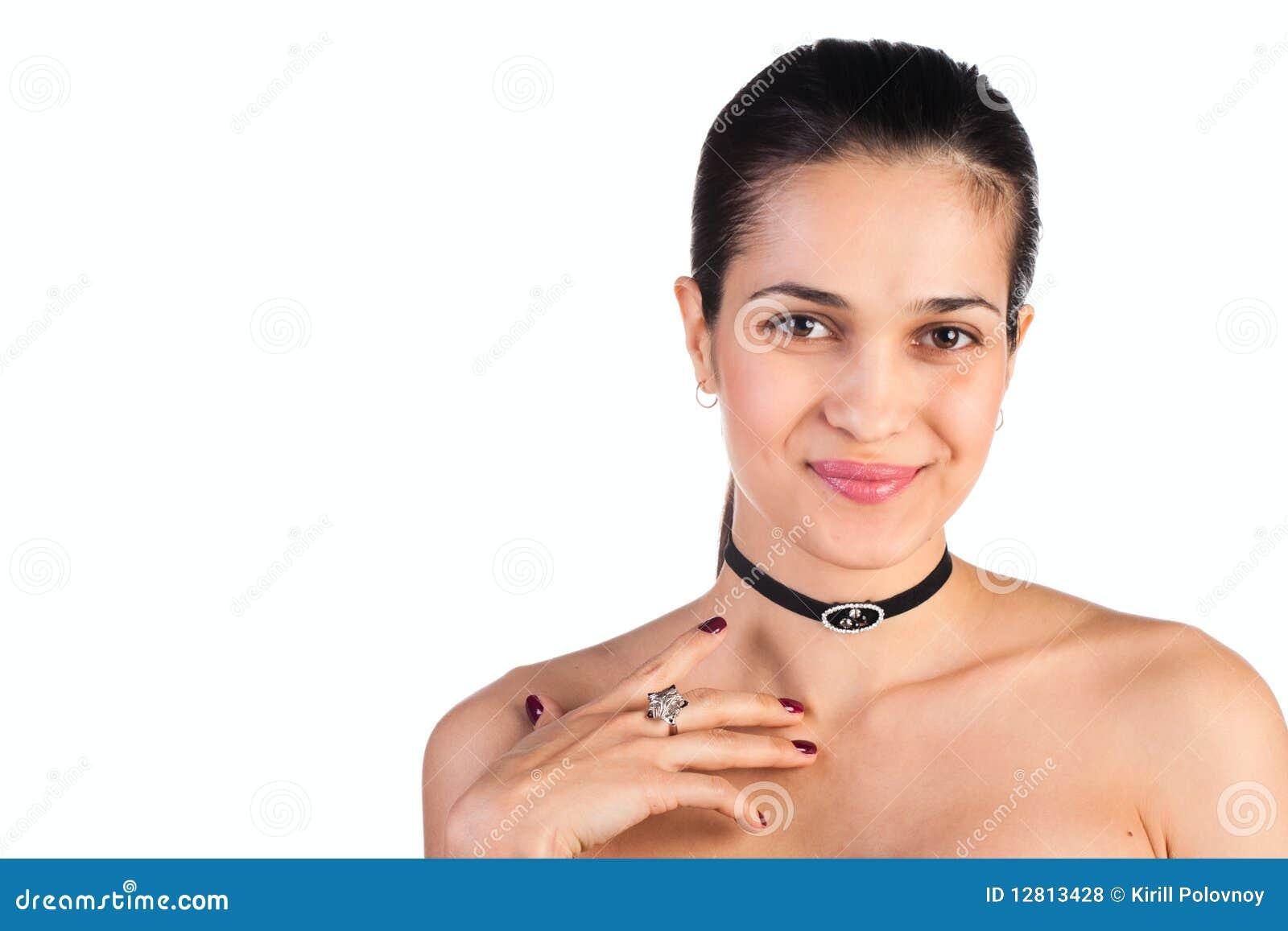 Mulher de Beautifu no branco