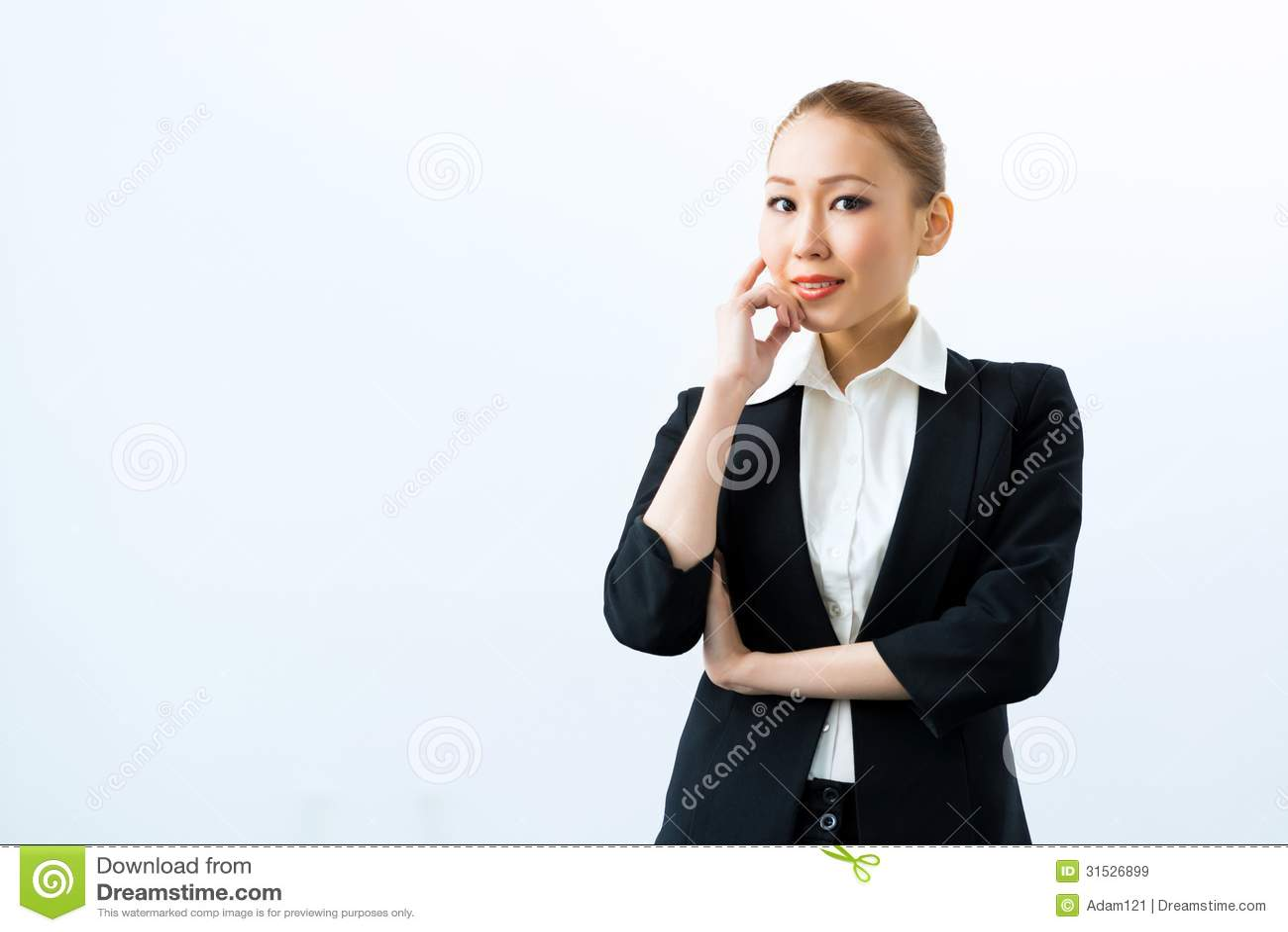 Mulher de negócio asiática