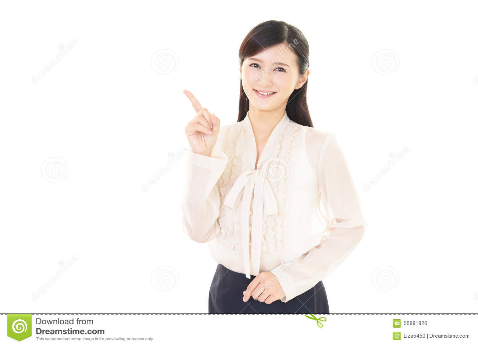 Mulher de negócio de sorriso