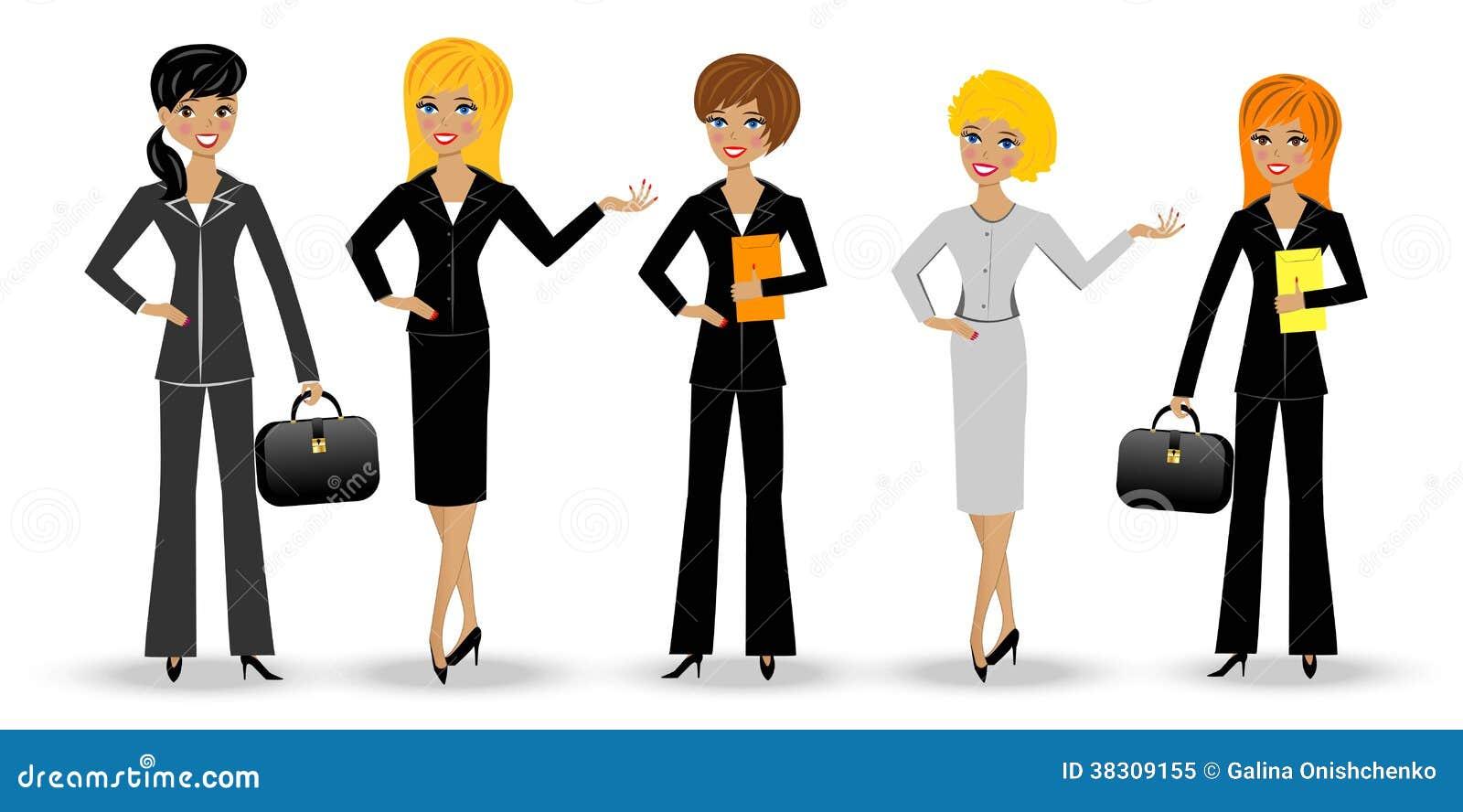 Mulher de negócio delgada ajustada no fundo branco