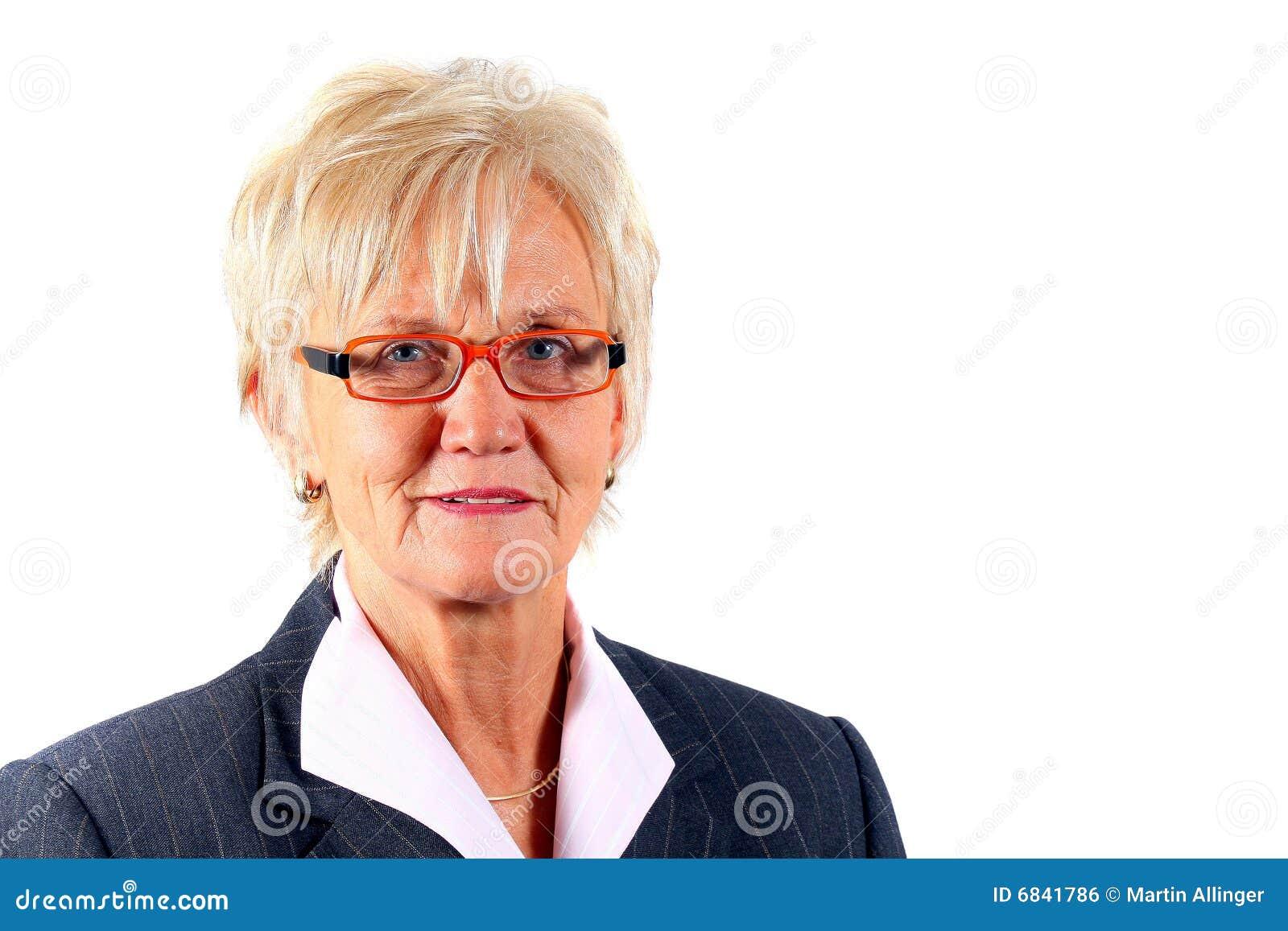 Mulher de negócio em seu 50s