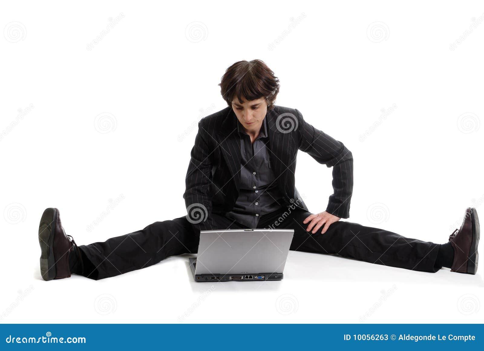 Mulher de negócio flexível