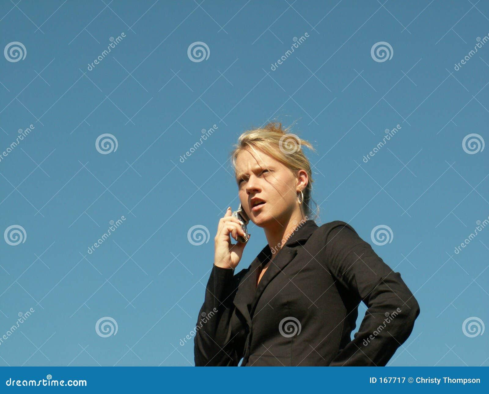 Mulher de negócio irritada