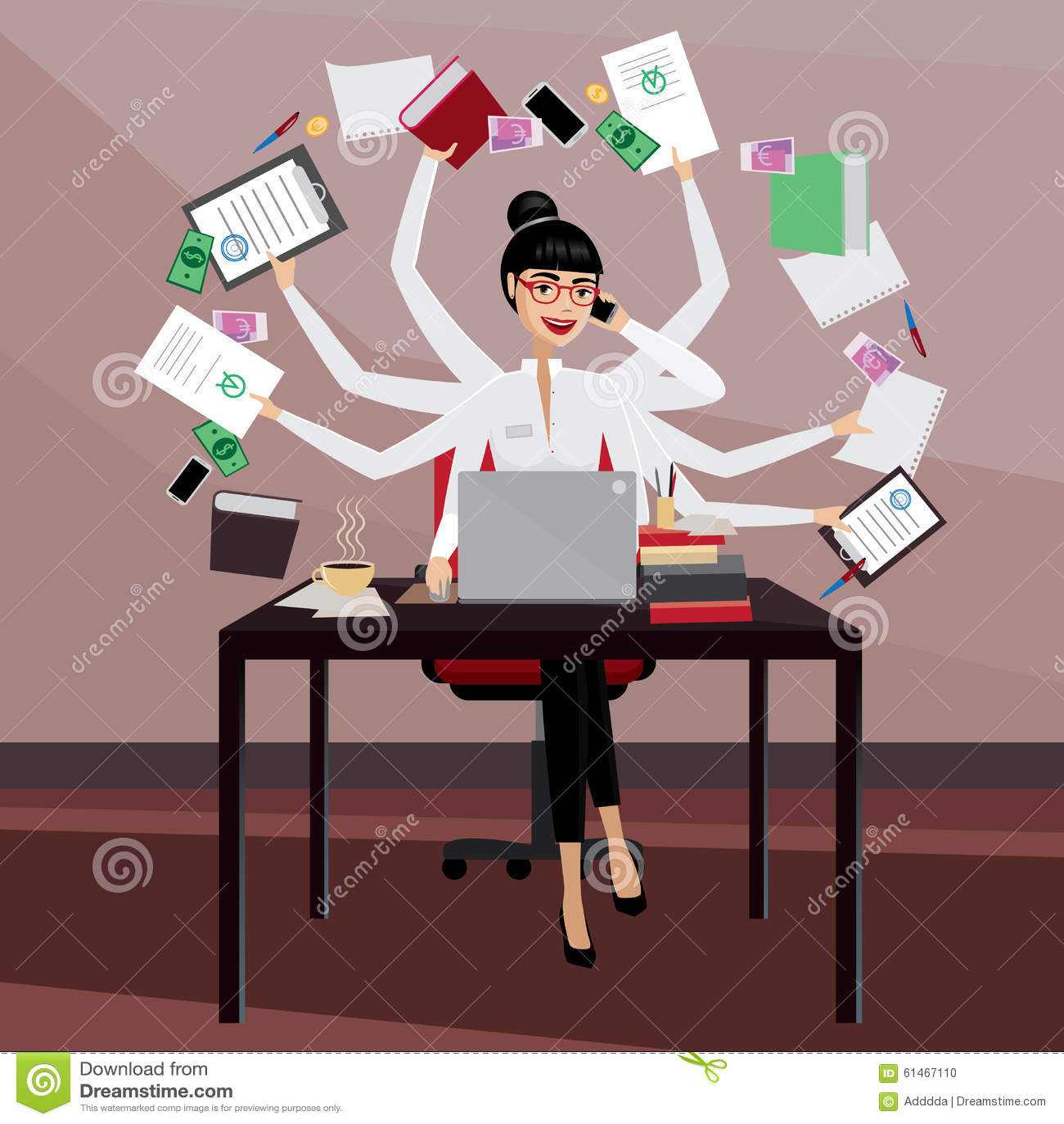 Mulher de negócio ocupada