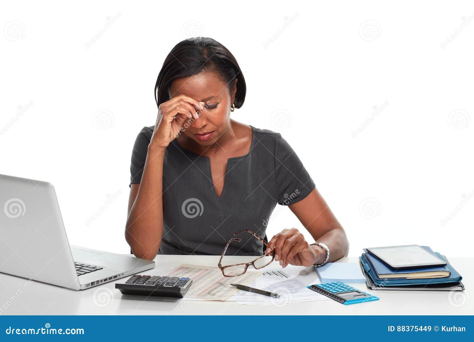 Mulher de negócio Tired