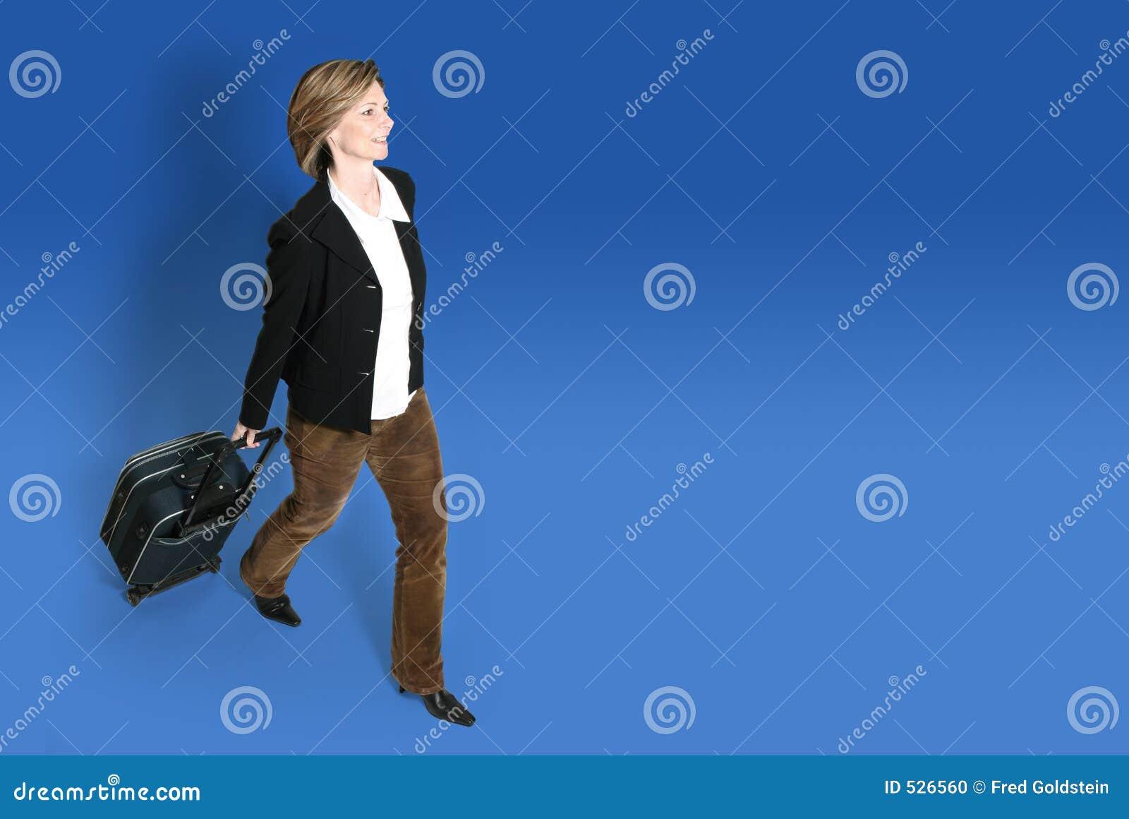Mulher de negócios com bagagem