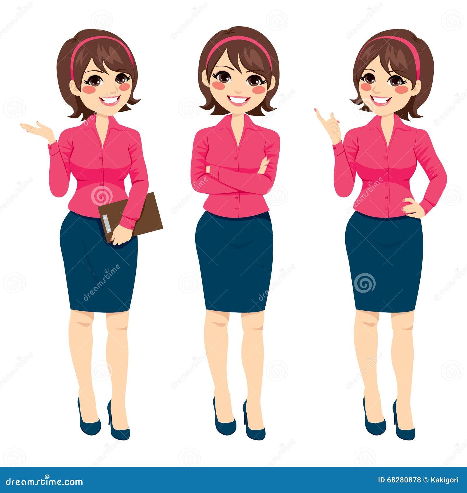 Mulher de negócios ereta Gestures