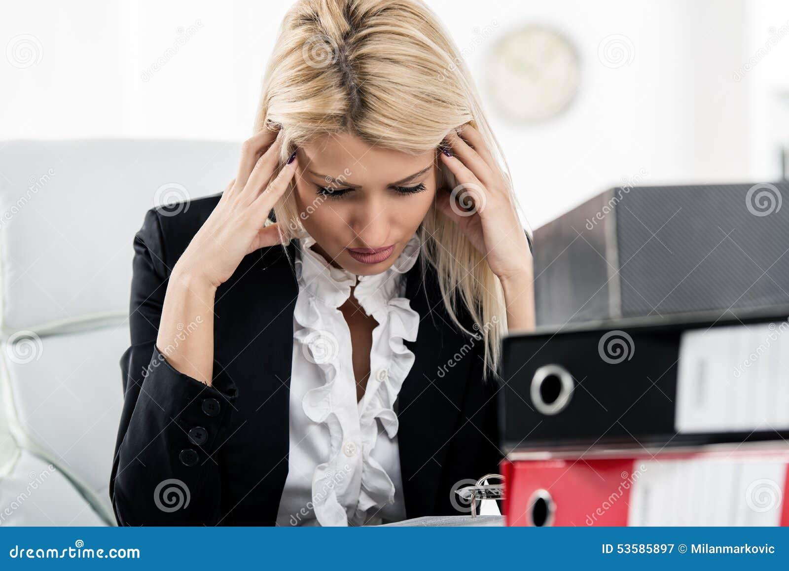 Mulher de negócios Headache