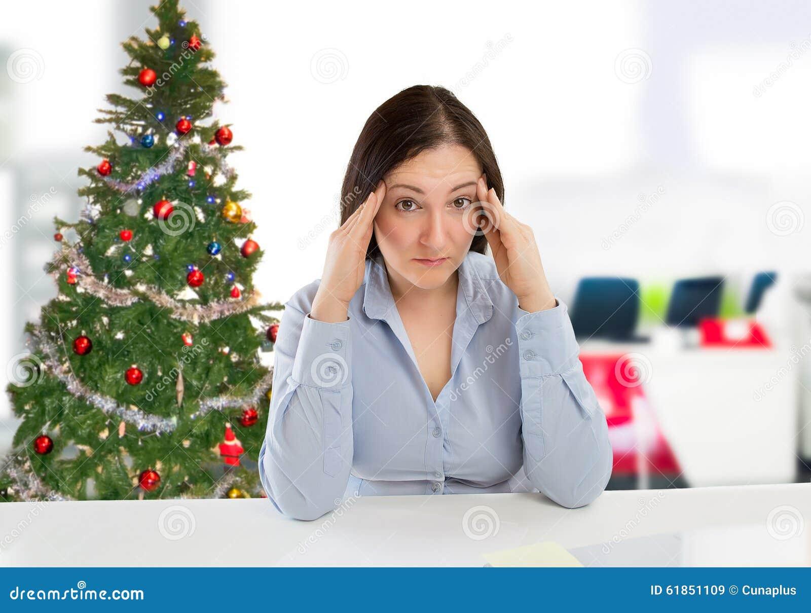 Mulher de negócios no Natal