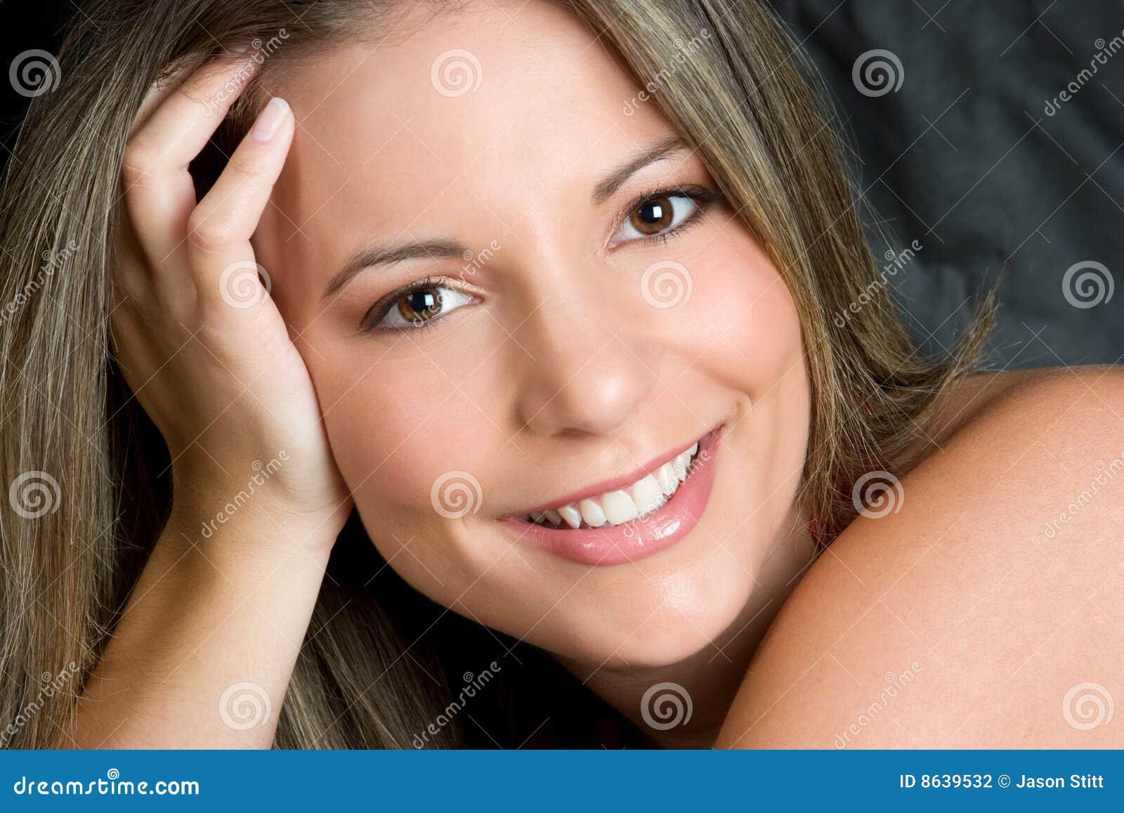 mulher de sorriso lindo fotografia de stock imagem 8639532. Black Bedroom Furniture Sets. Home Design Ideas