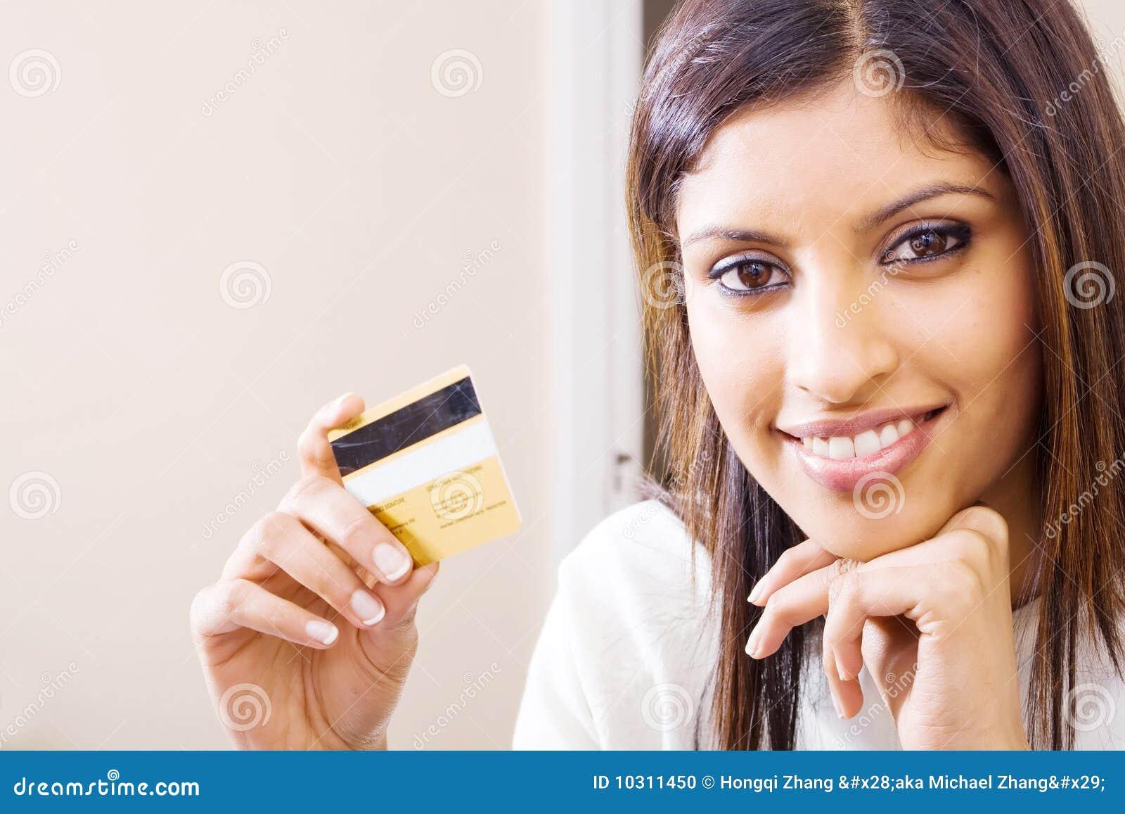 Mulher do cartão de crédito