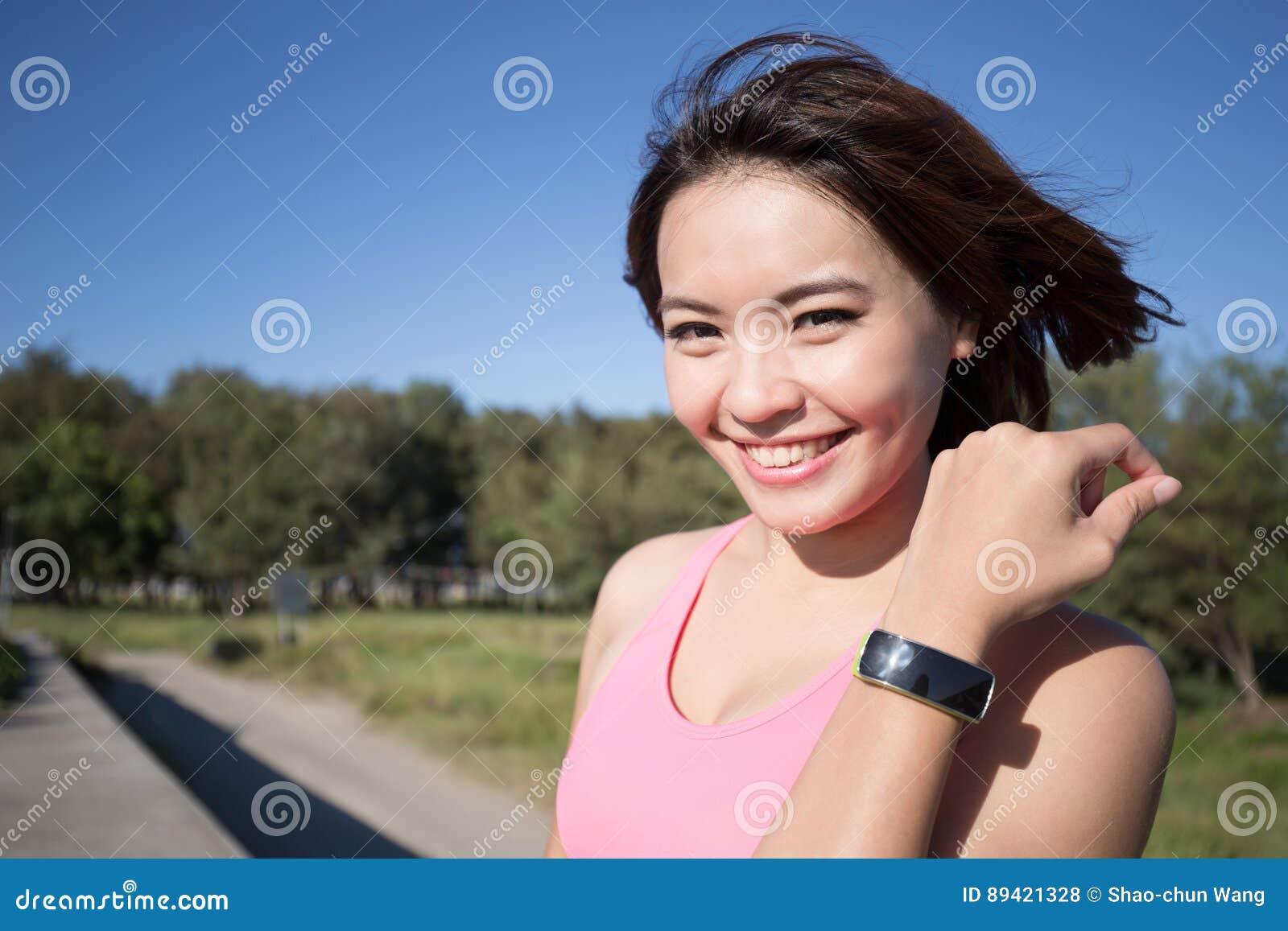Mulher do esporte da saúde