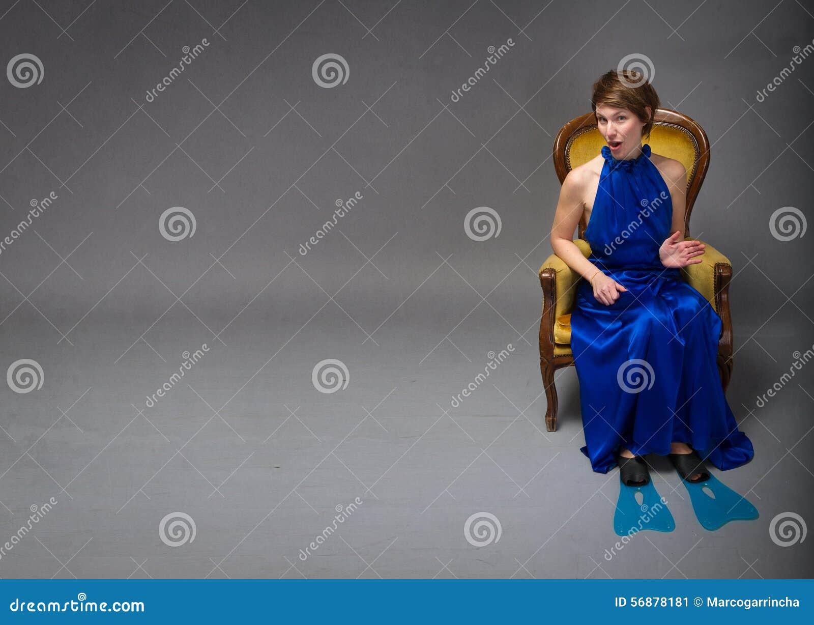 Mulher elegante pronta para o esporte do verão
