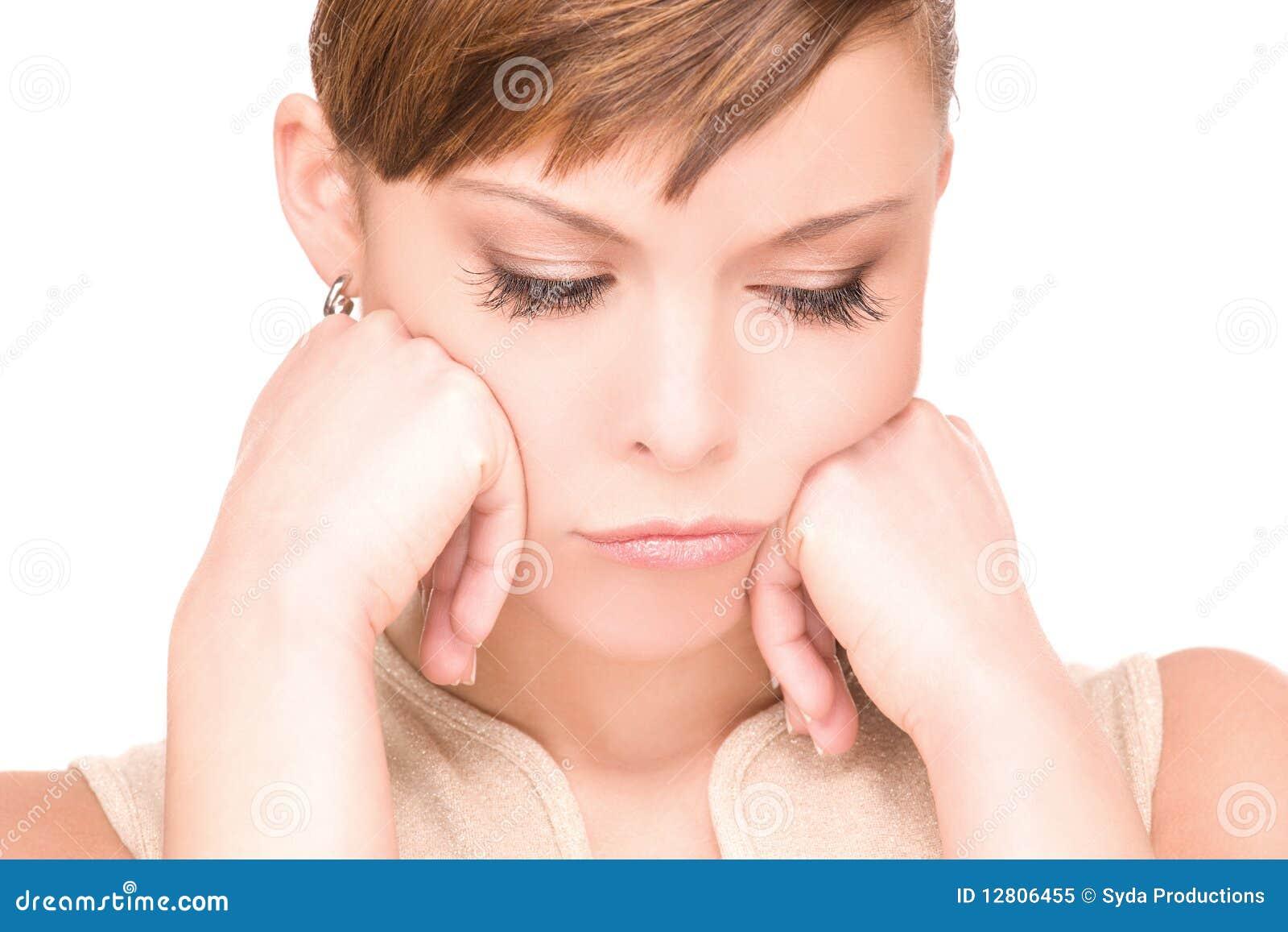 Mulher infeliz
