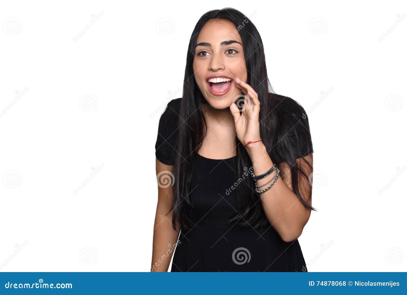 Mulher latino surpreendida
