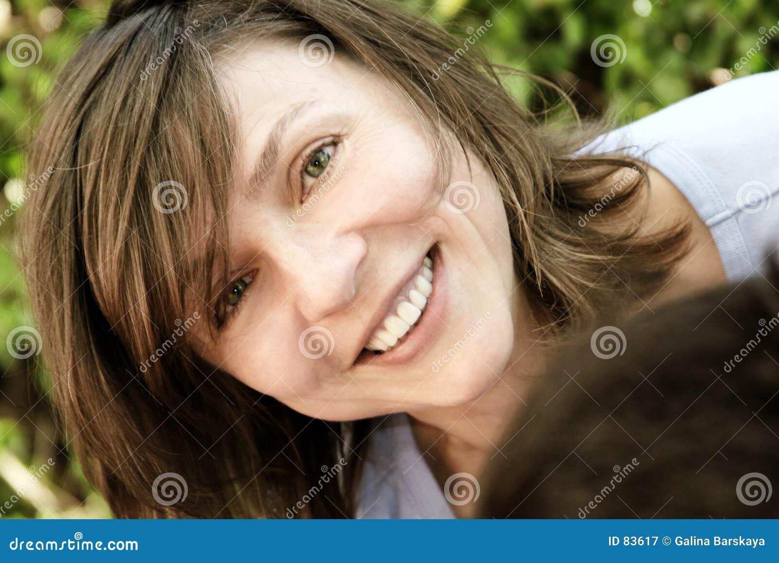 Mulher madura feliz