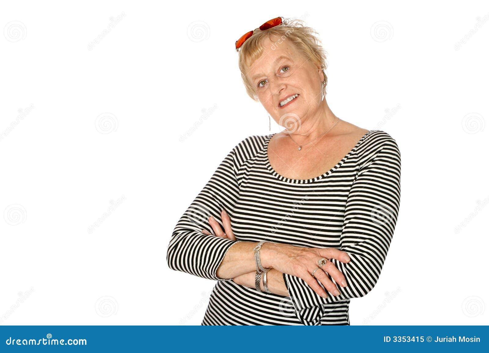 Mulher madura na forma na moda