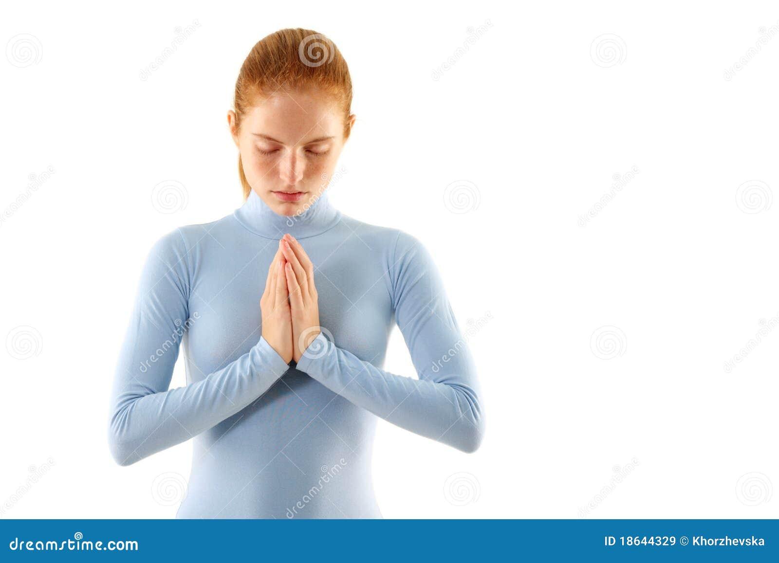 A mulher meditate