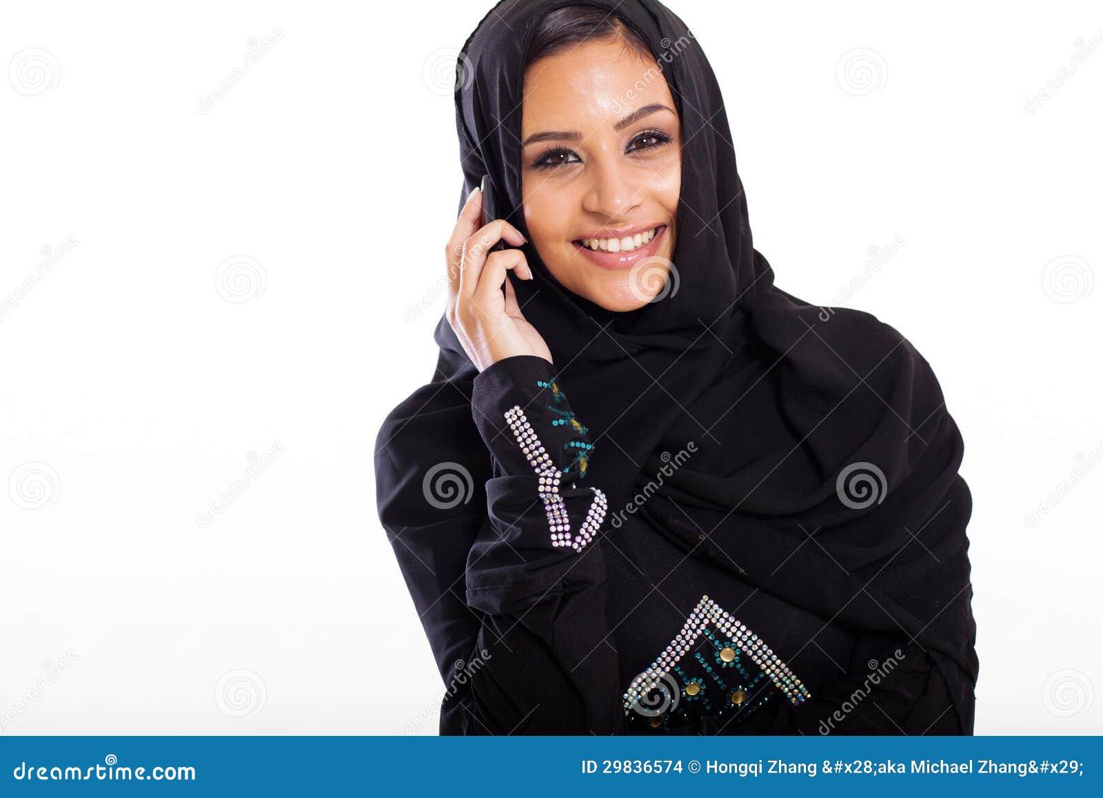 Telefone muçulmano da mulher