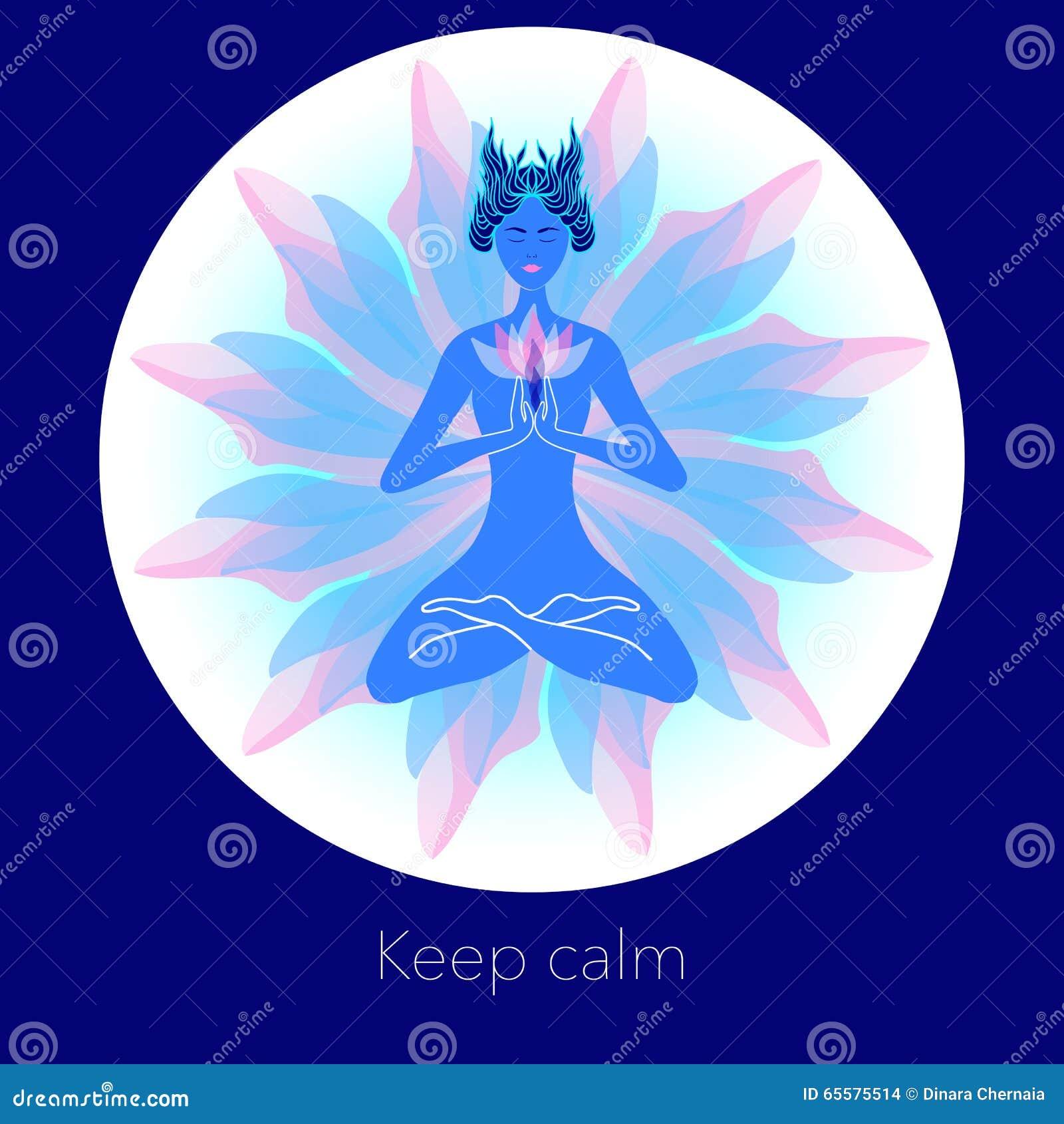 Mulher na meditação Ilustração criativa